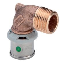 Cot bronz M x Fe - 4714 - 2714 - Viega - imbinare prin presare Viega Pexfit PRO