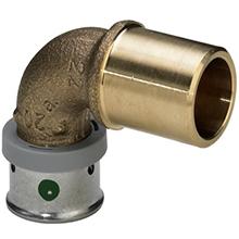 Curba bronz – racord Pex-Cu - 4793 - Viega Pexfit PRO - imbinare prin presare