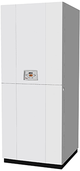 PIXELFAST FC - cazan in condensatie de pardoseala cu boiler 120 l - Arca - cazan pe lemne - cazan mixt lemn peleti - centrala cu boiler incorporat + cazan