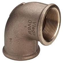 Cot 90˚ Fi x Fi bronz - 3090 - imbinari din bronz pentru otel