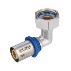 Semiolandez cotit Gerpex M x Fi - etansare plata - tub multistrat si fitinguri cu imbinare prin presare - emmeti gerpex