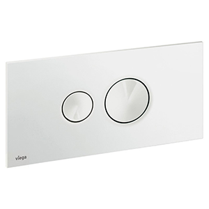 Clapeta de actionare Visign for Style 10 - 596316 - alb alpin, cromat, cromat mat, finisaj inox, module pentru montaj ingropat Viega