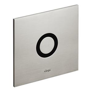 Set de echipare Visign for More 100 pentru pisoar - 610937 - Viega - actionare cu senzor infra rosu - alb alpin - cromat - cromat mat - finisaj mat