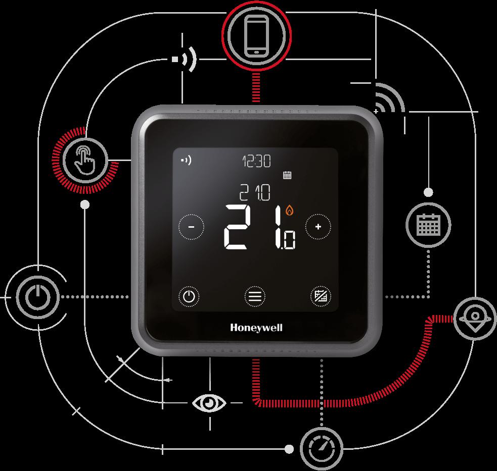 Termostat Honeywell Lyric T6/ T6R - controlat prin internet - technova