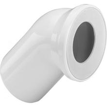 Cot de scurgere la 45˚ pentru vase WC din plastic alb - 101718 - Viega - Coturi si racorduri pentru vase WC