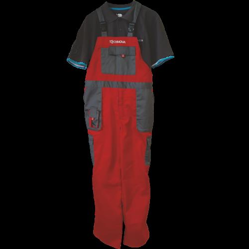 Salopeta rosie si tricou gri - premii - Technova Invest - Campanie cu premii - Premii care muncesc pentru tine - campanie fidelizare instalatori